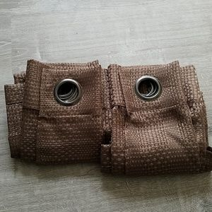 Set of 6 brown curtains